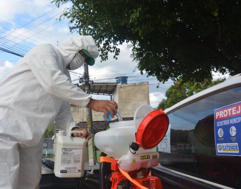 Sanitização das ruas da cidade
