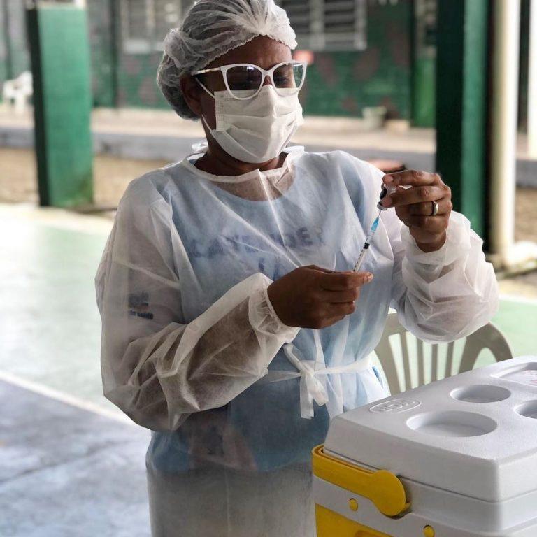 Gestantes e Puérperas recebem vacinação