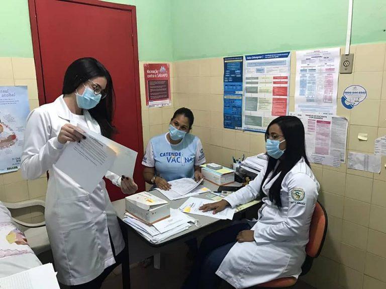 Entrega dos testes rápidos para diagnóstico de COVID-19